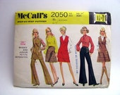 Vintage Jumper Tunic Pantsuit Skirt McCall's Pattern