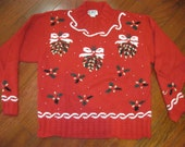 Tacky Christmas Sweater- Ladies size small