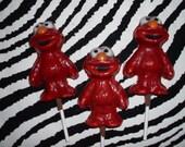 Chocolate Elmo Lollipops