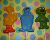 24 Sesame Street inspired lollipops
