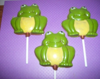 Chocolate Frog Lollipops