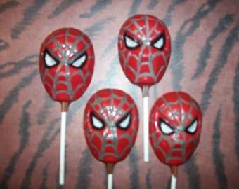 Spiderman Lollipops