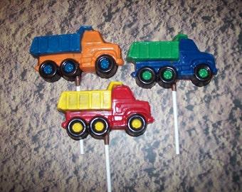 Custom Order for 30 Chocolate Dump Truck/Construction  Lollipops