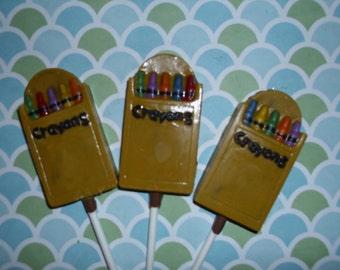Chocolate Crayons Lollipop