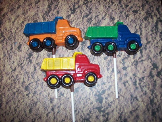 Chocolate Dump Truck Lollipops