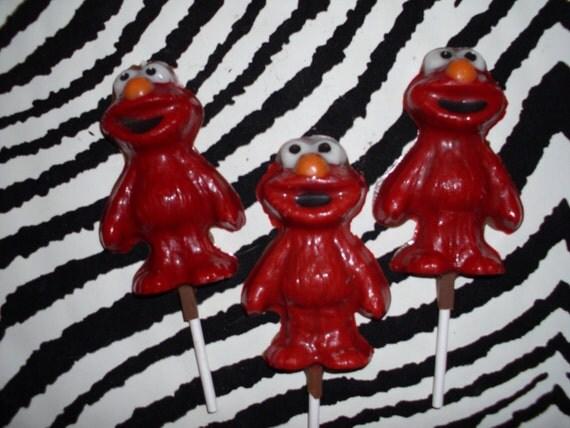 Chocolate Elmo Lollipops 15