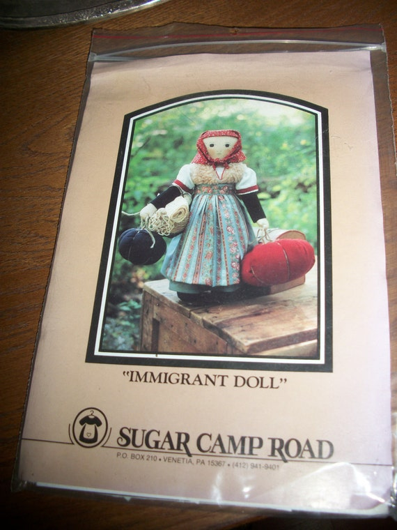 Immigrant Doll pattern 20 inch vintage 1989