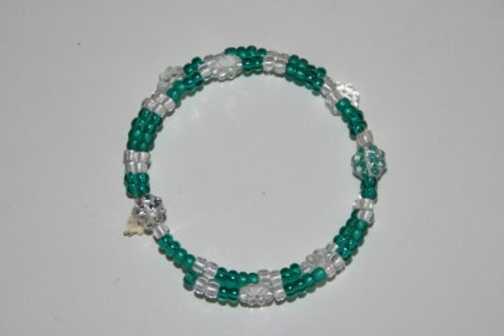 Teal Meadow Double Loop Bracelet - Proceeds Benefit Cancer Research