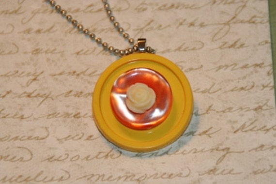 Traffic Safety Fancy Nancy Button Necklace - Proceeds Benefit Cancer Research
