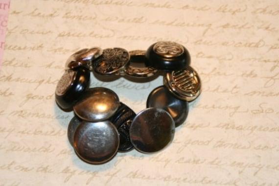Silver City Button Bracelet