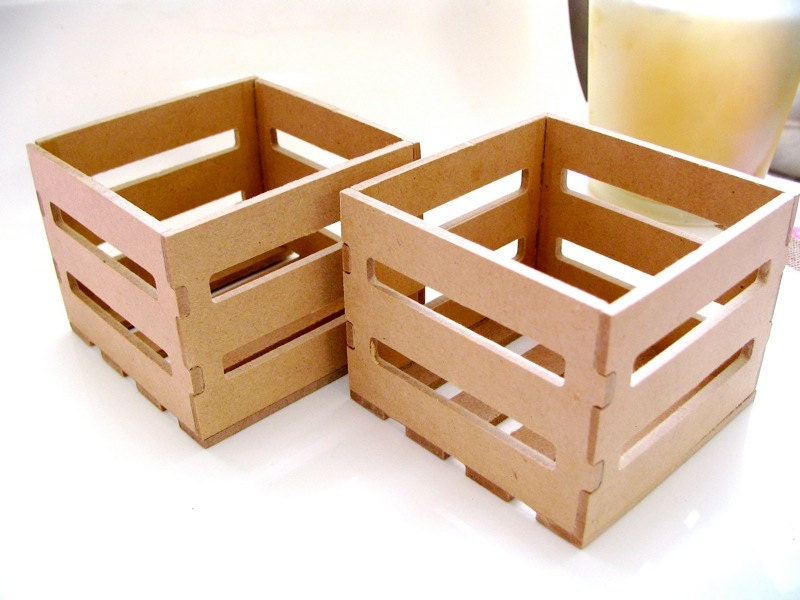 6 mini wooden crates by sugarcottonstudio on etsy