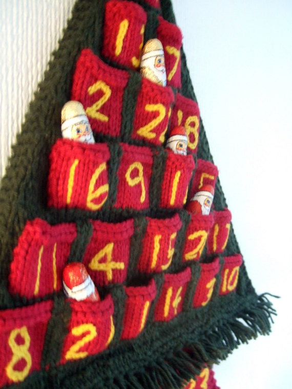 Advent Calendar Knitted Christmas Tree