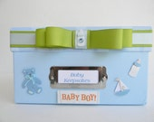 Personalized Baby Boy Keepsake Memory Paper Photo Box - Baby Boy - Blue - Memory Keepsake - Photo Box