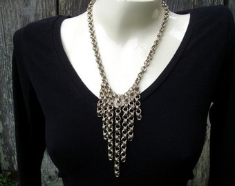 Cascade Chains Necklace - Nickel Silver