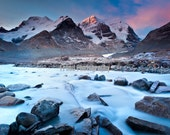 Columbia Ice Fields at Dawn