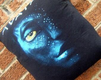 Avatar Na'vi upcycled recycled tshirt pillow cushion eco green
