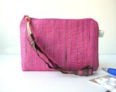 Pink gold small zipper pouch cab money pink pleasure