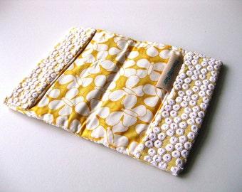 Passport holder yellow butterfly travel wallet travel gift