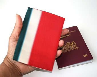 Japanese passport cover travel gift Japan Obi recycle.