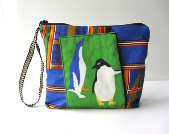 Kids Holiday pouch travel bag penguins lost in Africa