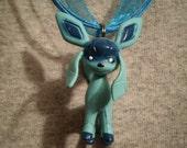 Pokemon Glaceon Blue Silk Necklace