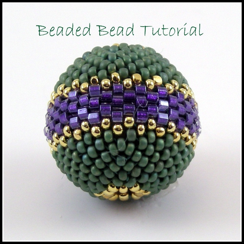 tutorial beaded bead peyote stitch instant