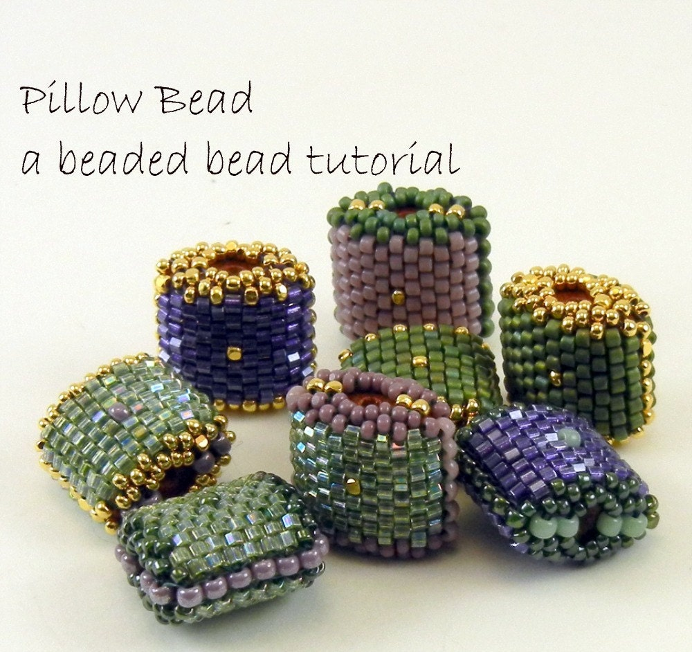 beaded bead pattern peyote stitch pillow bead by thebeadedbead