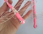 Pink Diva Dragonflies Set of 2 Ornaments