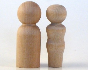 Husband and Wife - Paint Your Own Wood Dolls