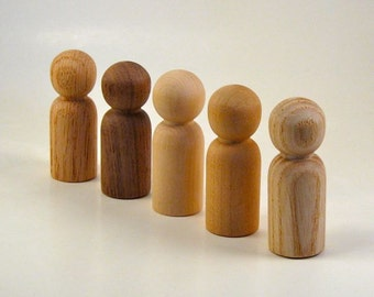 Natural People Wood Peg Dolls