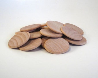 20 Wood disks - 1.25 inch coin