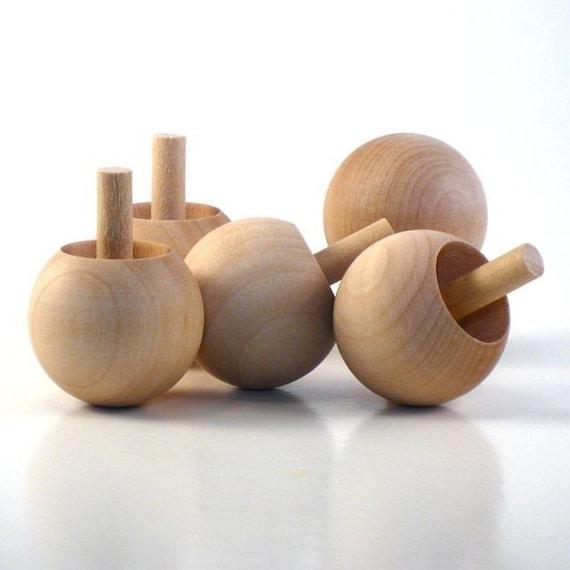 Flip Flop Tip Tops - One Dozen - wooden toy tops