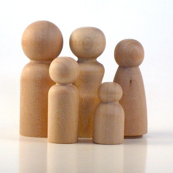 Family of Five - Paint Your Own Wood Dolls