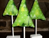 Stuffed Christmas Trees - Green Trees with White Base