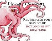 Naughty Coupon - Octopus