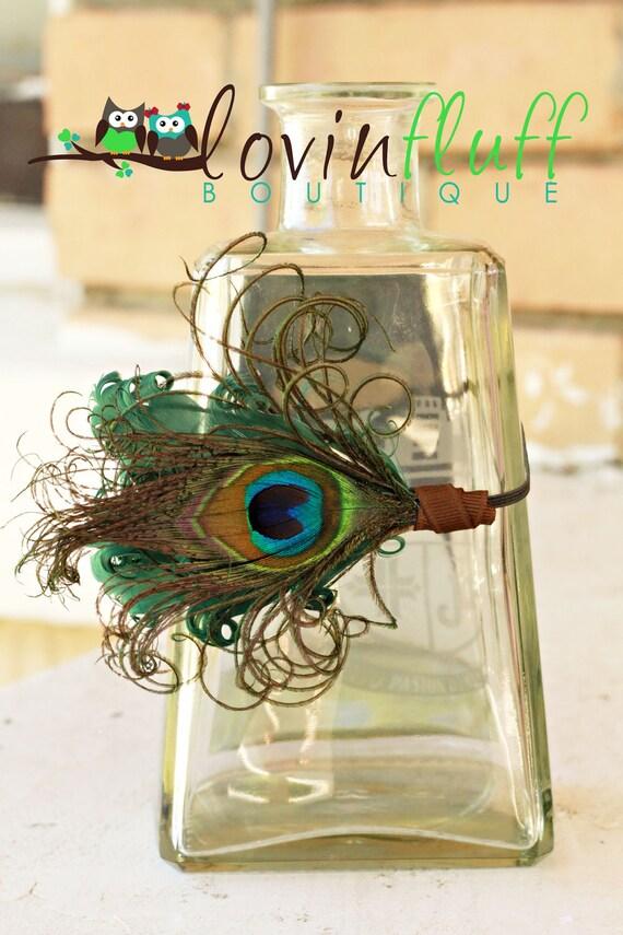 Newborn Peacock Headband