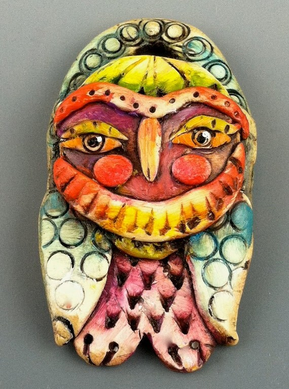 Vintage Style Owl Pendant