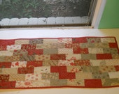 Red & Beige Table Runner - RESERVED