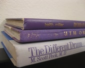 Shabby Chic PURPLE Instant Library Book Collection - Wedding Decor - Book Bundle - Photography Props - Lavender & Lilac