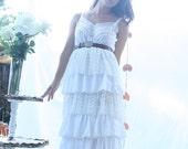 All Ruffled Up Garden Wedding Handmade Vintage Slip Dress