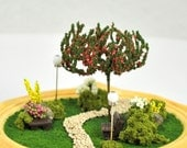 "Spring is Finally Here - A Miniature Terrarium Garden - (4"" diameter) Sale"
