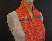 Infinity Mobius Scarf Cowl Striped Cotton SALE