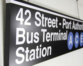 NEW YORK subway sign made to order - MTA approved - identical to the real thing