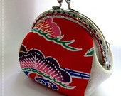FREE SHIPPING - Handmade Coin Purse Okinawa Red