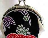 FREE SHIPPING - Handmade Coin Purse Okinawa Black