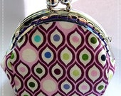 FREE SHIPPING - Handmade Coin Purse Purple Eyes