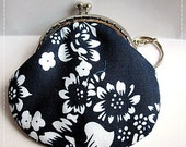 FREE SHIPPING - Little Handmade Coin Purse Traditional Asian Blue