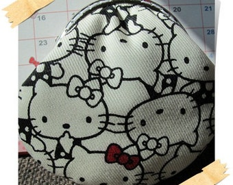 Clearance Handmade Coin Purse - Black and White Hello Kitty