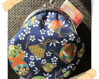 Clearance Handmade Coin Purse - Japan Kimono in Blue