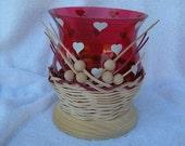 Glass vase with basket weaving Number 67